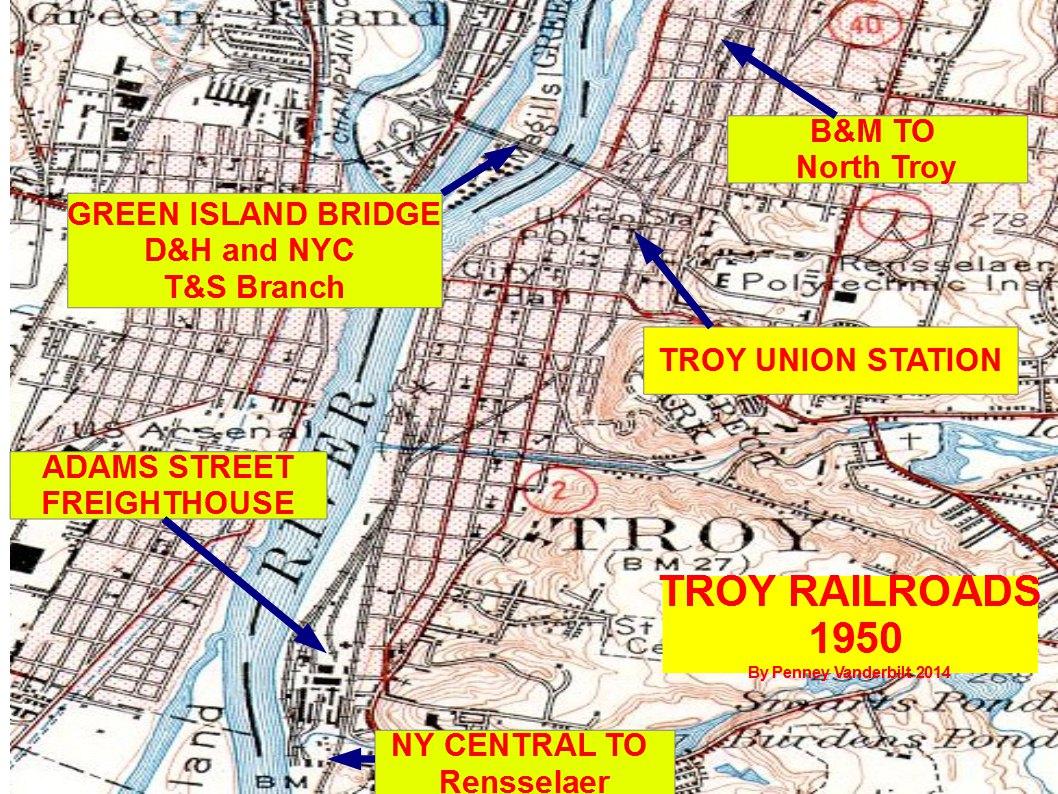 DH Railroad PenneyVanderbilt - New york map train