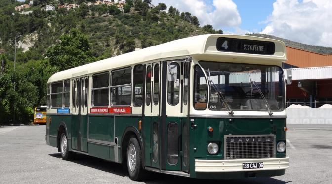 Old Bus from the 1970's Returns to Nice, France