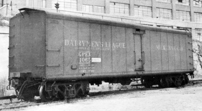 Dairymen's League Milk Car in Troy Union RR Station