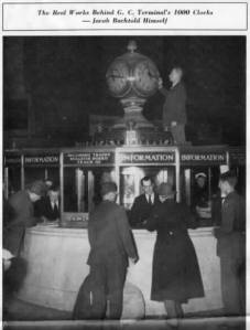 Grand Central Clock in 1946