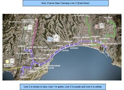 Nice, France Tramway Line 2 -July 2014