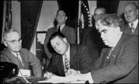 Harry Truman and John L. Lewis