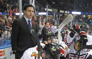 Comets Coach Travis Green