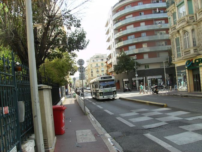 Historic Bus 205 Rides The Streets of Nice
