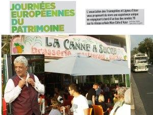 September 2014 Bus 205 passes La Canne à Sucre