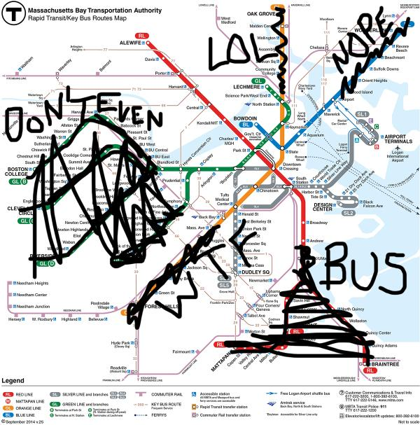 The MBTA's Real Map
