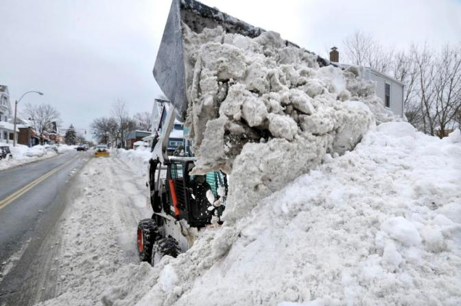 Snow where to go: Boston-area town dumps excess white stuff in harbor