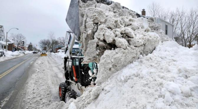 Snow where to go: Boston-area town dumps excess white stuff in harbor