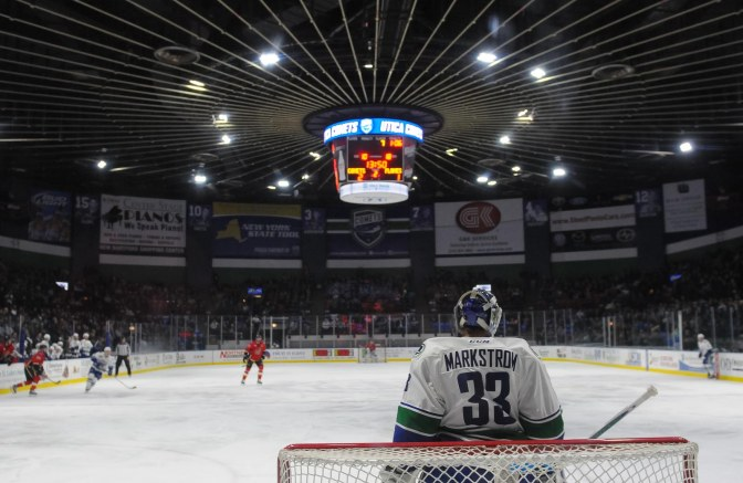 Utica Comets over the Toronto Marlies 5-2 Friday evening at The Utica Memorial Auditorium