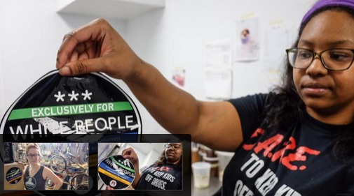 'Exclusively for white people' stickers put on Austin, Texas stores
