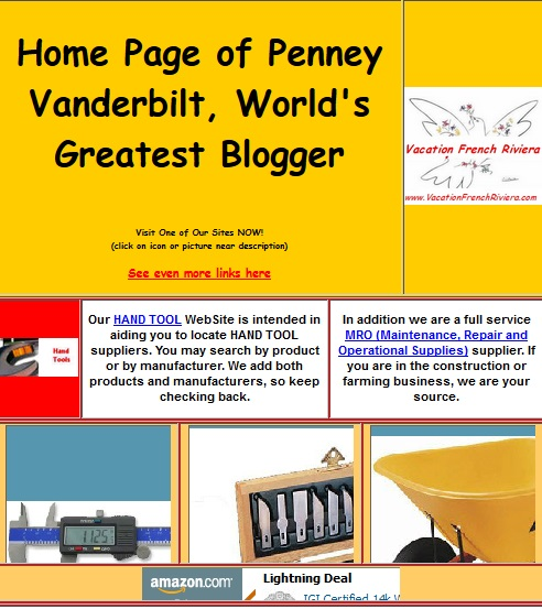 Penney Vanderbilt's New WebSite. Great WebSite from World's Greatest Blogger!