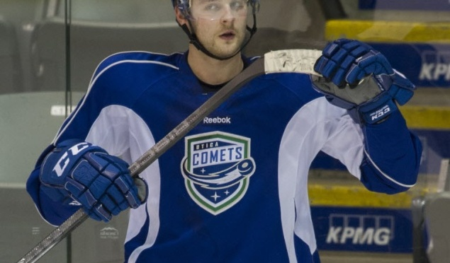 Utica Comets 2 vs; Grand Rapids Griffins 1; Utica Leads Series 1-0