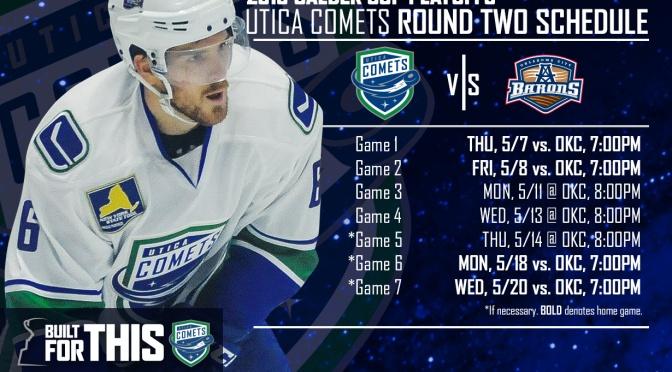 Round 2: Utica Comets vs. Oklahoma City Barons
