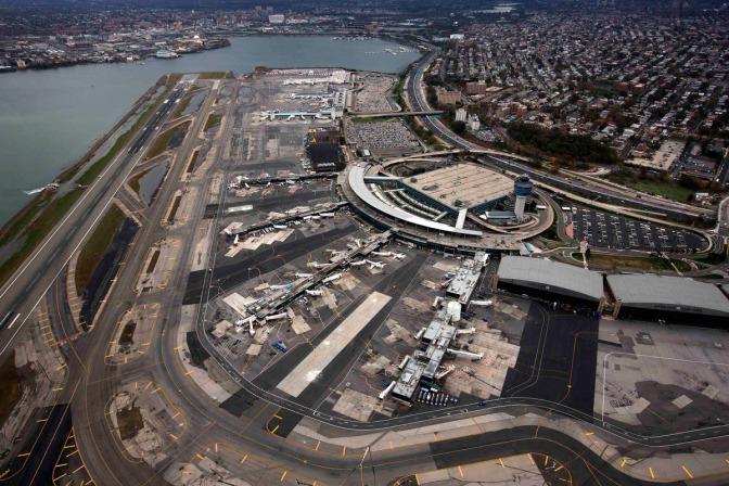 Flying high at LaGuardia airport