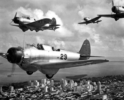 Navy bombers fly over Miami