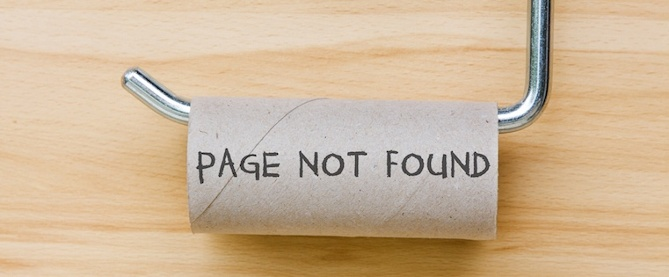 """Clever """"404"""" Error Pages"""