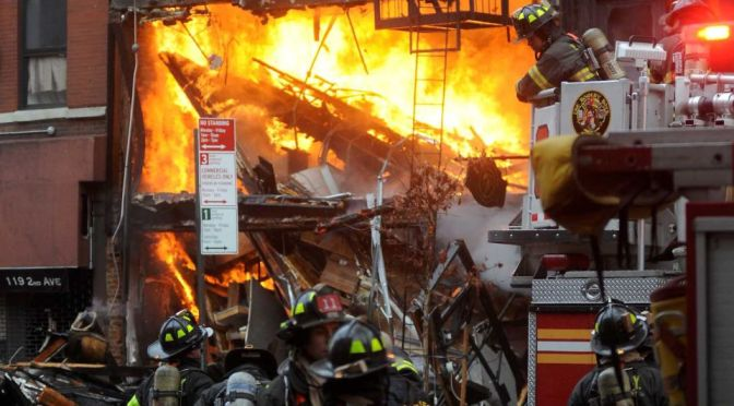 Gas-related explosion suspected in East Village fire that injures 22, takes down buildings, mayor says