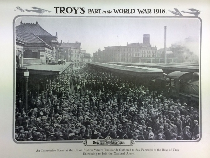Glimpses of Downtown Troy, New York in WW1