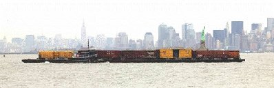 Railroad Car Floats In New York City