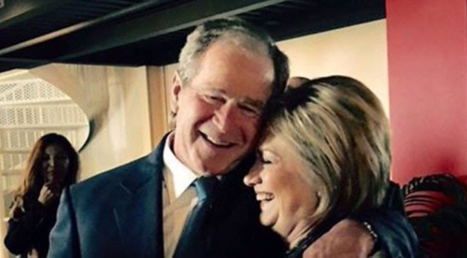 Photo Shows Hillary Clinton, George W. Bush Together at Reagan's Funeral