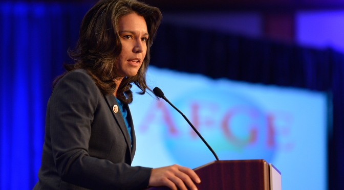 Rep. Tulsi Gabbard  stated she's vacating her position as the DNC's vice chairwoman in order to support the Sanders campaign.