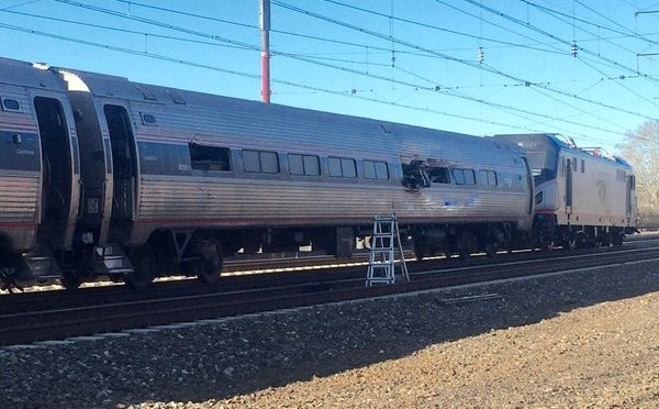 Amtrak  Hits Backhoe, Derails South Of Philadelphia, Killing 2