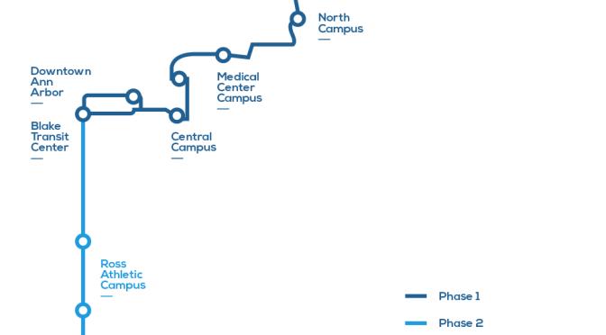 University of Michigan reveals plans for Ann Arbor light-rail route