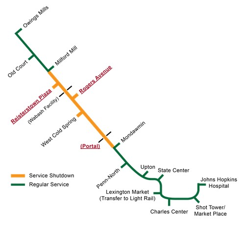Maryland transit agency to partially close Baltimore subway for rail updates