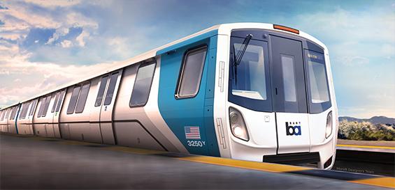 BART unveils first 'Fleet of the Future' rail car