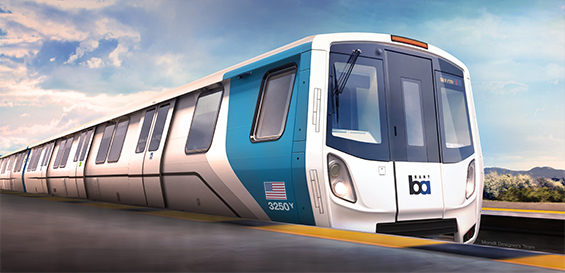 BART unveils first 'Fleet of the Future' rail car