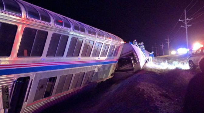 Report: Amtrak, BNSF sue Kansas truck owner in derailment incident