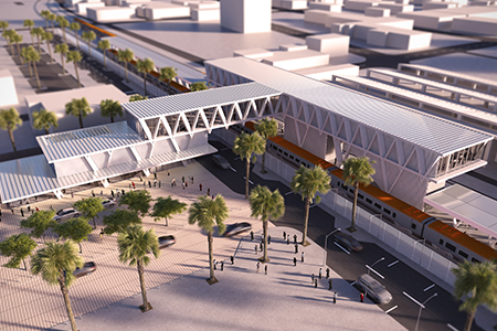 Brightline's Fort Lauderdale train station about to rise
