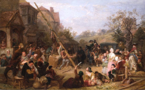 """Raising the Maypole"" by Frederick Goodall, 1855."