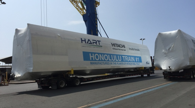 HART breaks ground on Honolulu stations, marks arrival of rail cars
