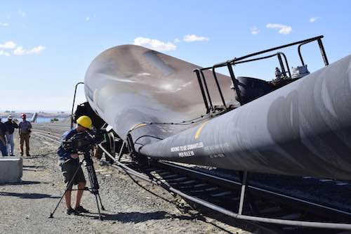 AllTranstek tackles imploding tank car legend on MythBusters TV show