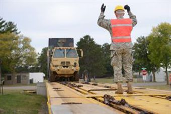 Minnesota National Guard on the move, by rail