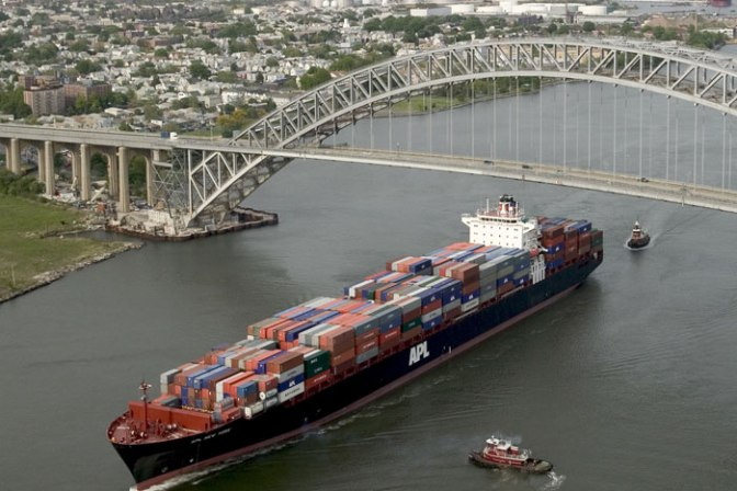 NY-NJ port able to handle 14,000-TEU ships after Bayonne Bridge raised