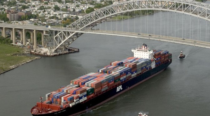 NY-NJ port able to handle 14,000-TEU ships after Bayonne Bridge raised