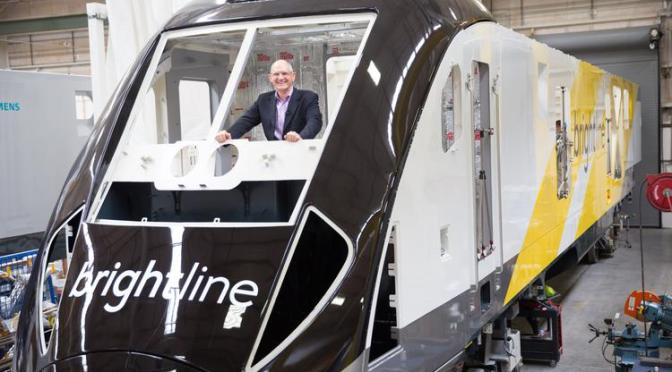 Brightline Train On Assembly Line