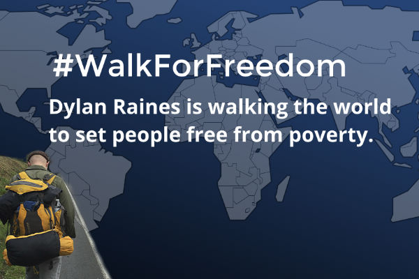 Walking 1400 miles to end poverty!