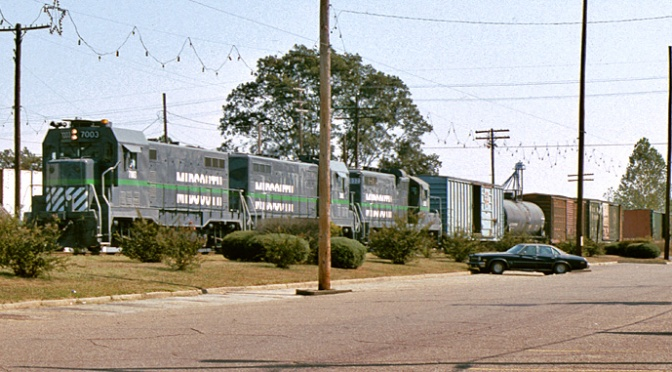 Meridian Speedway rail line preps for upgrades in Louisiana, Mississippi