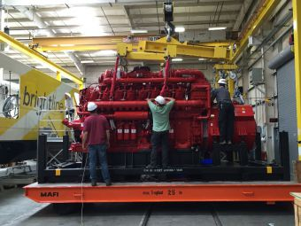 Brightline gears up with first engine install