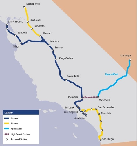 Ca HSR connecting services