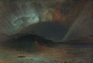 "Frederic Edwin Church's 1865 painting ""Aurora Borealis"""