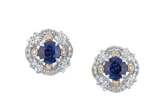 Fabergé Marie Blue Sapphire Earrings #Fabergé #diamond #sapphire #earrings