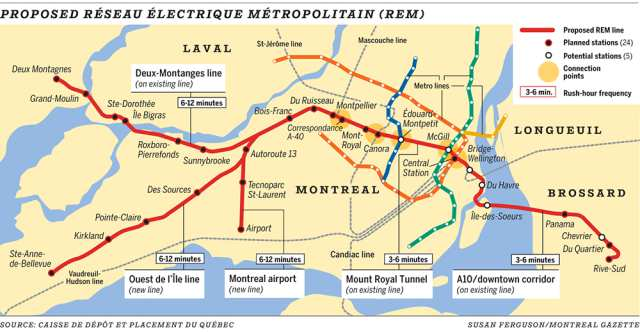 Environmental study unveiled for Montreal's proposed light-rail system
