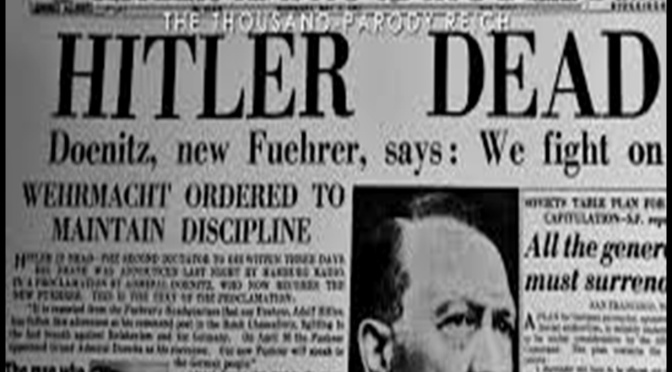 CONSPIRACY THEORY: HITLER DID NOT DIE IN A BUNKER IN 1945…