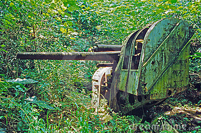Japanese gun on Ponape Island