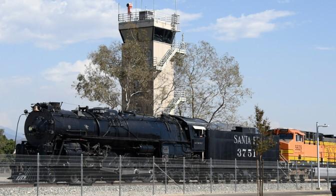 Steam engine celebrates 'new and improved' Acton Metrolink station