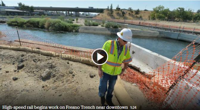 U.S. transportation chief Foxx sees high-speed rail construction in California